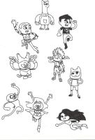 CN heroes in Amazing world of Gumball art style by WindMarine