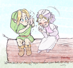 Zelda And Link by forosha