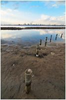 Beach, water and industry by BenTich