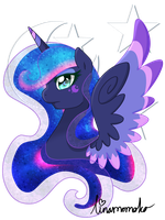 Rainbow Power - Princess Luna by linamomoko
