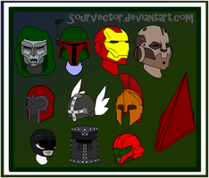 Helmets by Sourvector