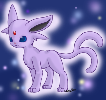 Espeon colored by chrissichan