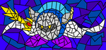 Stained Glass --- Meta Knight by Shadow-Brin