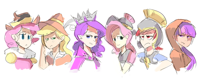 Hearth's Warming Human Sketches by Karzahnii