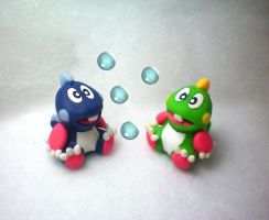 Bubble Bobble Bub and Bob by stevoluvmunchkin