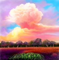 Cotton Candy sky by E by Ellee22
