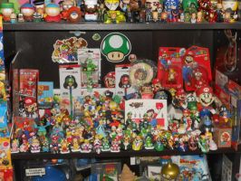 Current Super Mario figure shelf by Mastershambler