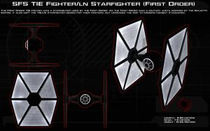 TIE Fighter (First Order service) ortho [New] by unusualsuspex