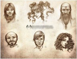 Sketch Portrait Set 2 by CristianaLeone