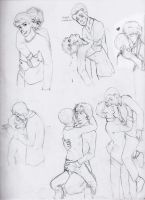 Johnlock-Shwatsonlock Sketch Dump by dacoolcat