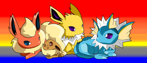 I Generation Eeveelutions by Chaomaster1