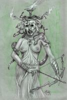 MEDUSA, Queen of serpents. by Mixta110