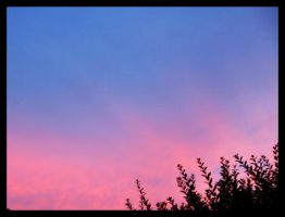 Blue vs Pink sunset by nadda1984