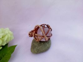 Rose quartz ring by Mirtus63