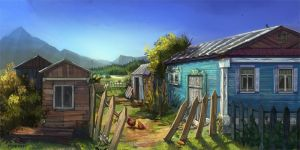 village yard by VeronikaD