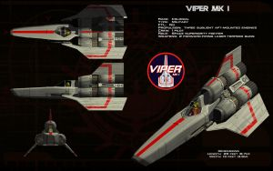 Colonial Viper Mk 1 by unusualsuspex