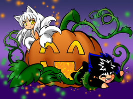 Kurama's Killer Pumpkin by chillwinterheart