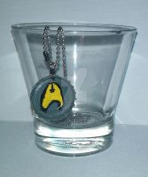 Command Gold Star Trek Necklace by wolf-girl87