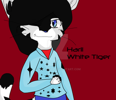 Harli The White Tiger by ExileEmily