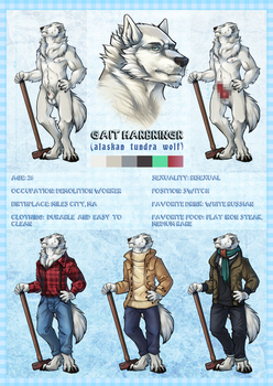 Gait Harbringr - character sheet commission by kevintheradioguy