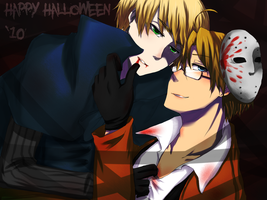 APH - USUK - Happy Halloween by KaruKaruKira