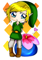 Link and bomb flower by Danielle-chan