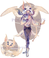 [CLOSED] adopts auction - White Owl by Polis-adopts