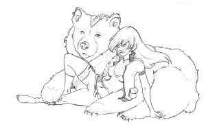 Bear girl by mzelBulle