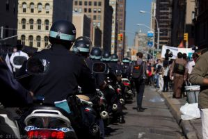 OWS Police Escort Protestors by TimberClipse