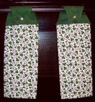 Shamrock Hanging Bar Towels by UrsulaPatch