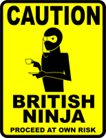CAUTION - British Ninja by falsarius