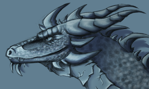 random dragon head by monochrome-penguin