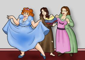 Cinderella's step-sisters by Finnish-Penguin