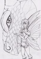 The Dragon and The Fairy by Silvaines