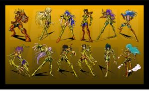 El ultimo - Saint Seiya 12 golds by DarkMu