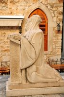 Church sculpture - Hvar Town by wildplaces
