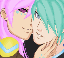 Kay.C and Aqua by DelpheneLightfoot