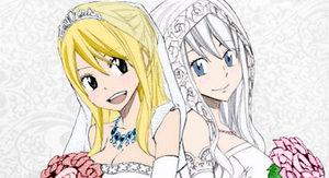 Lucy and Mirajane - wedding dresses by xTakado
