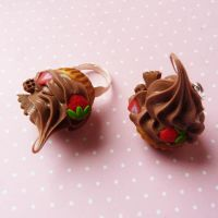 chocolate cupcakes set by lemon-lovely