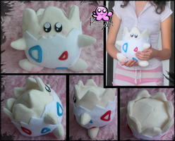 Togepi Plush by PinkuArt