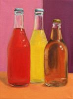 Bottles by drawingsbyrachel