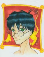 Harry Potter Headshot by SilverTallest