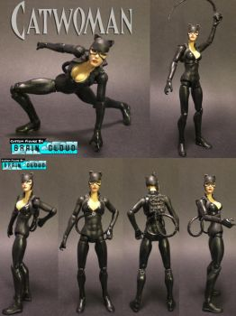 Custom Catwoman Action Figure by Brain Cloud by braincloudstudios