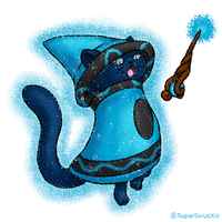 Daily Art - 238 - Crayon Cat by SuperSiriusXIII