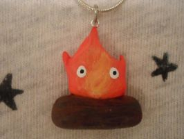 Calcifer Necklace by Snow-of-Wonderland