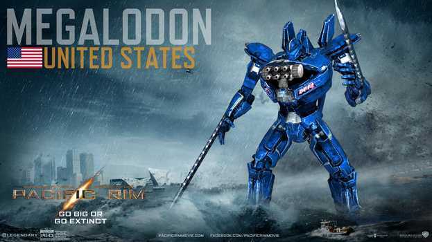 Remake: Pacific Rim-Custom Jaeger:Megalodon by Animus325