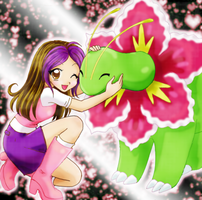 Girl and Meganium by chikorita85