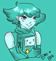 Doodle Time: Bee and BMO by Kasugaxoxo