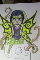Green Skull Fairy school commish by Elvaneyl