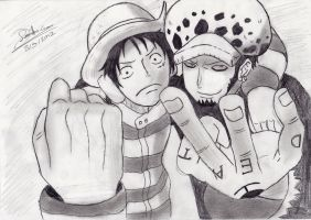 Straw Hat and Hearts Pirates The Alliance by Kouji134
